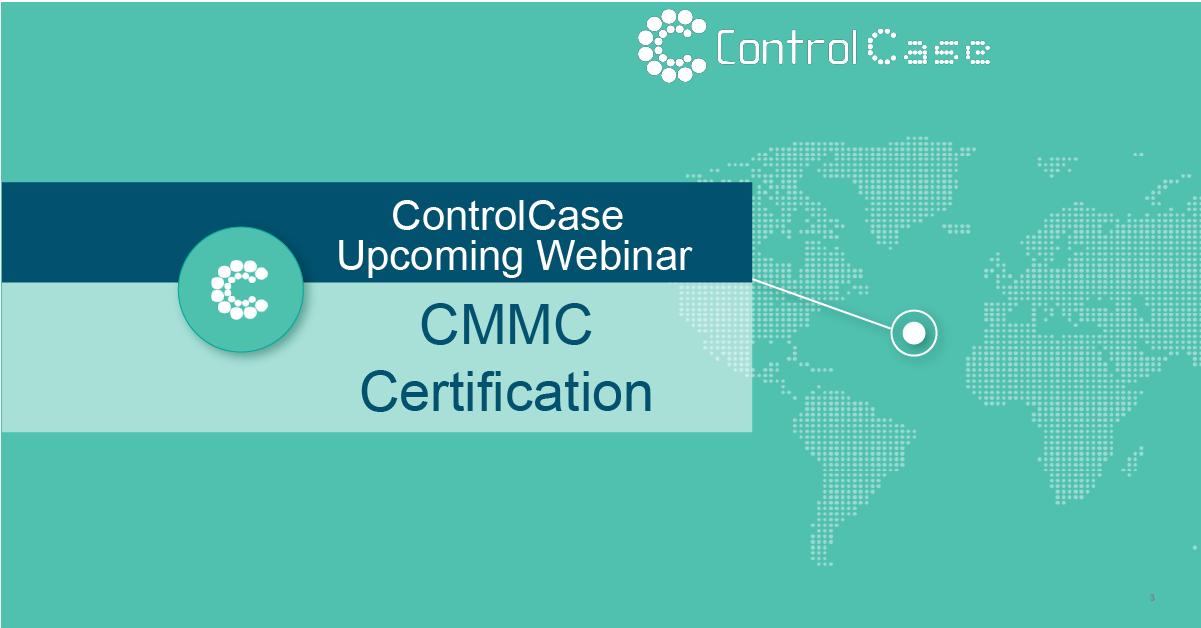 CMMC Certification Webinar